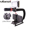 Ulanzi Travel Handle Grip Rig Camera Gears Steadicam for Vlogging Video Blog Recording Youtube Live Streaming