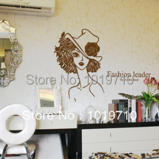 Romantic temperament beauty bedroom nightstand cabinets living room TV background wall-stickers can be removed from individual(China (Mainland))