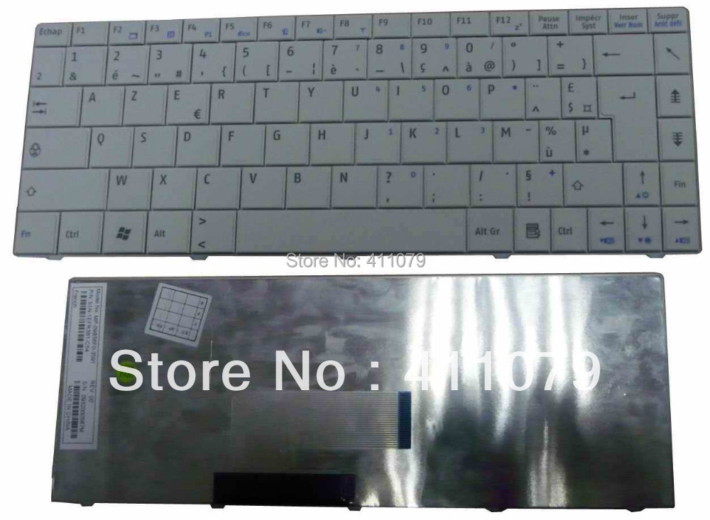 NEW FOR MSI X340 X320 X300 FR Keyboard Laptop Notebook Accessories Parts Replacement Wholesale French Clavier White (K2106)(China (Mainland))