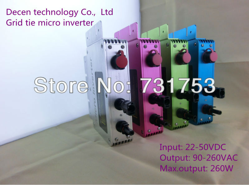 Kind note !!!!!!!!! NEW 260W IP65 grid tie inverter with communication and monitoring function,22-50VDC(China (Mainland))