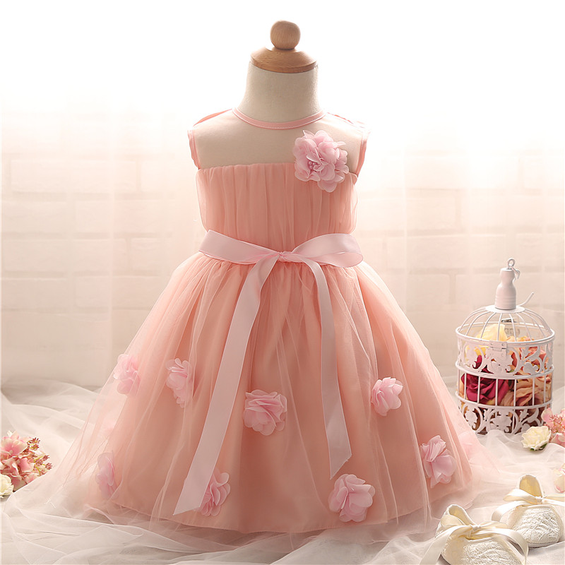 0-2 Years Princess Baby Girl Baptism Dress For Girl Infant 1 Year Birthday Dress Baby Girl Christening Dress Little Girl Clothes(China (Mainland))