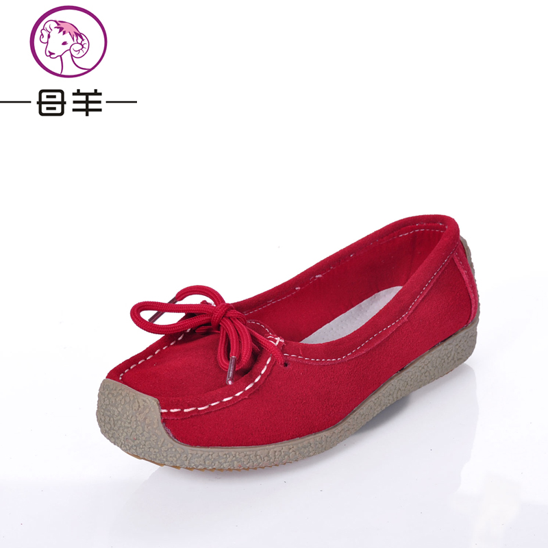 Genuine leather autumn 2013 snail shoes flat casual shoes women's cow muscle flat heel outsole mother shoes shallow mouth shoes