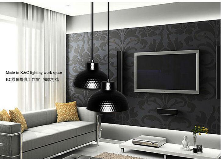 Hot Luxury Vintage Pendant Light Lamp Iron Industral For Loft RH Parlour Bar Coffee Living room Aisle Corridor Black 14*40w LED(China (Mainland))