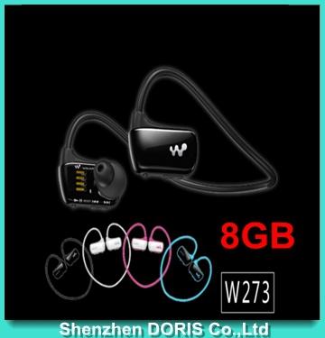 2015 New W273S Sports Mp3 player for sony headset 8GB Wireless Sweat-band Walkman Runningearphone Mp3 headphone 1pcs-in stock(China (Mainland))