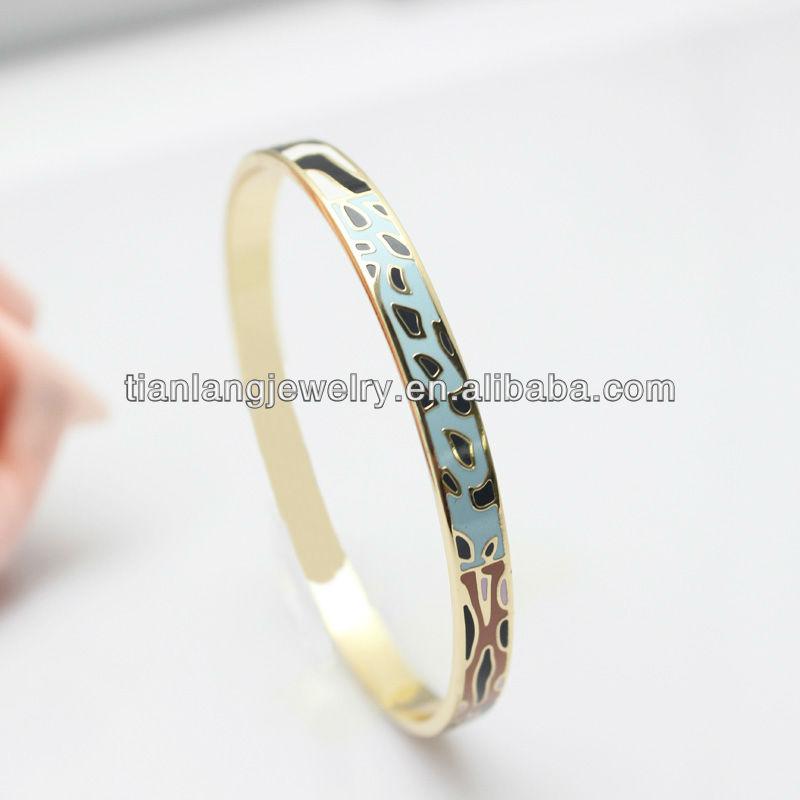 free shipping manufacturer price waviness bracelet brief design enamel bangle(China (Mainland))