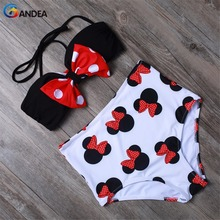 BANDEA Sexy Women Swimsuit High Waist Bikini Set Cute Animal Style Bow-knot Top With Removable Padded Bandeau Swimwear HA987(China (Mainland))