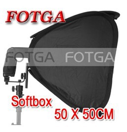 "Wholesale FOTGA 20"" Portable 50cm Softbox Soft Box for Flash Light Speedlite Photo Speedlight(China (Mainland))"
