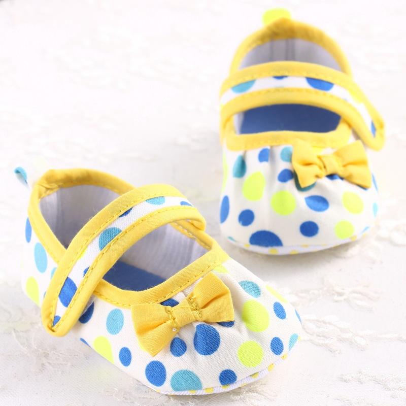 Spring Summer Girls Baby Princess Shoes Polka Dot Sweet Bowknot Toddler Soft Garden Shoes Prewalker Indoor Baby Ballet Crib Shoe(China (Mainland))