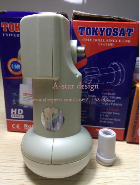 free shipping TokyoSat waterproof Best Signal digital HD Universal KU Band Single LNB satellite Dish lnb High Gain 0.1 dB noise(China (Mainland))