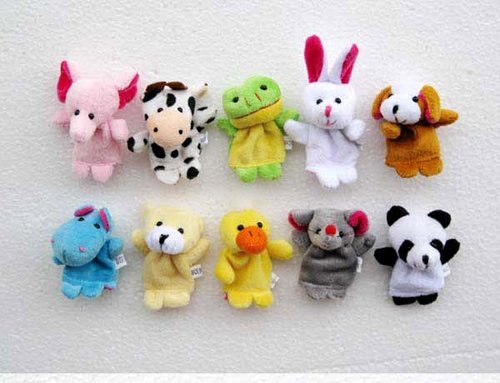 Christmas Gift For Baby Wholesale Free Shipping 100pcs/lot Baby Plush Toy/Stuffed Toy, Animal Finger Puppets/Doll,Talking Props