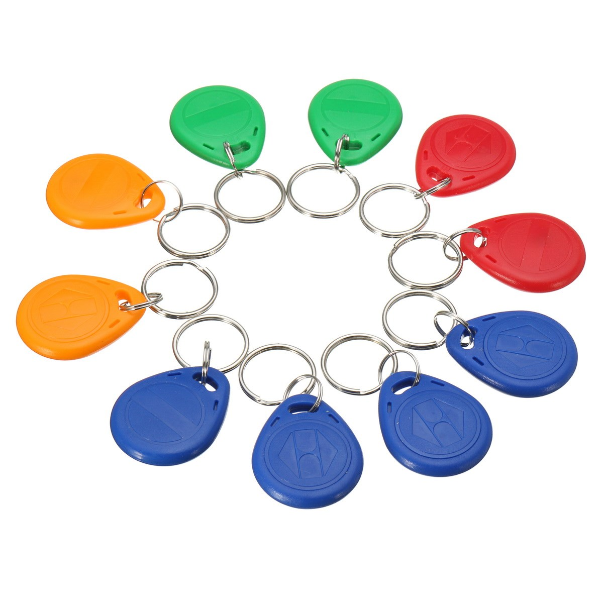 10pcs Handheld 125KHz RFID ID cards keyfob EM4305 access control card Tag(China (Mainland))