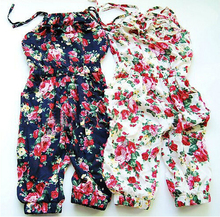 Toddler Girls Kids Jumpsuit Short Summer Playsuit Soft Clothing set One piece 2 8 Y