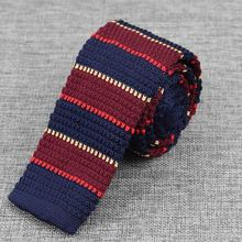 Fashion Men's Colourful Tie Knit Knitted Ties Necktie Narrow Slim Skinny Woven Cravate Narrow Neckties(China (Mainland))