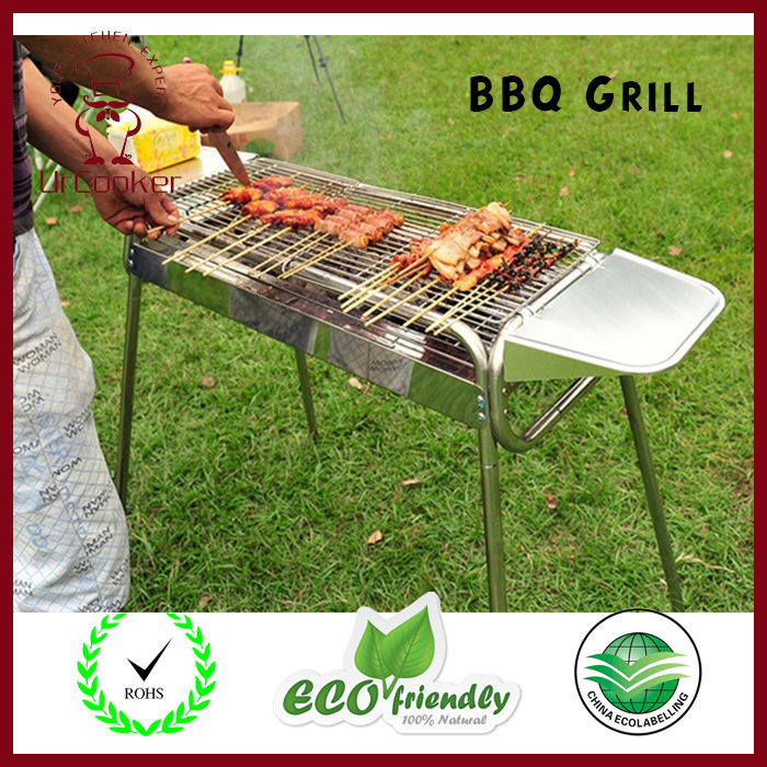 DHL Free shipping Outdoor Barbecue Picnic Stainless Steel Outdoor Barbecue Oven Charcoal Portable Grill Kabob BBQ Grill(China (Mainland))
