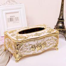 Fashion Car Home Acrylic Tissue Box High-grade European Rhinestone Decoration Large Paper Box HG0014(China (Mainland))