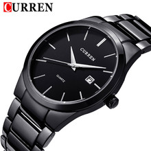 2016 new fashion Curren brand design business calender men male clock casual stainless steel luxury wrist quartz watch gift 8106