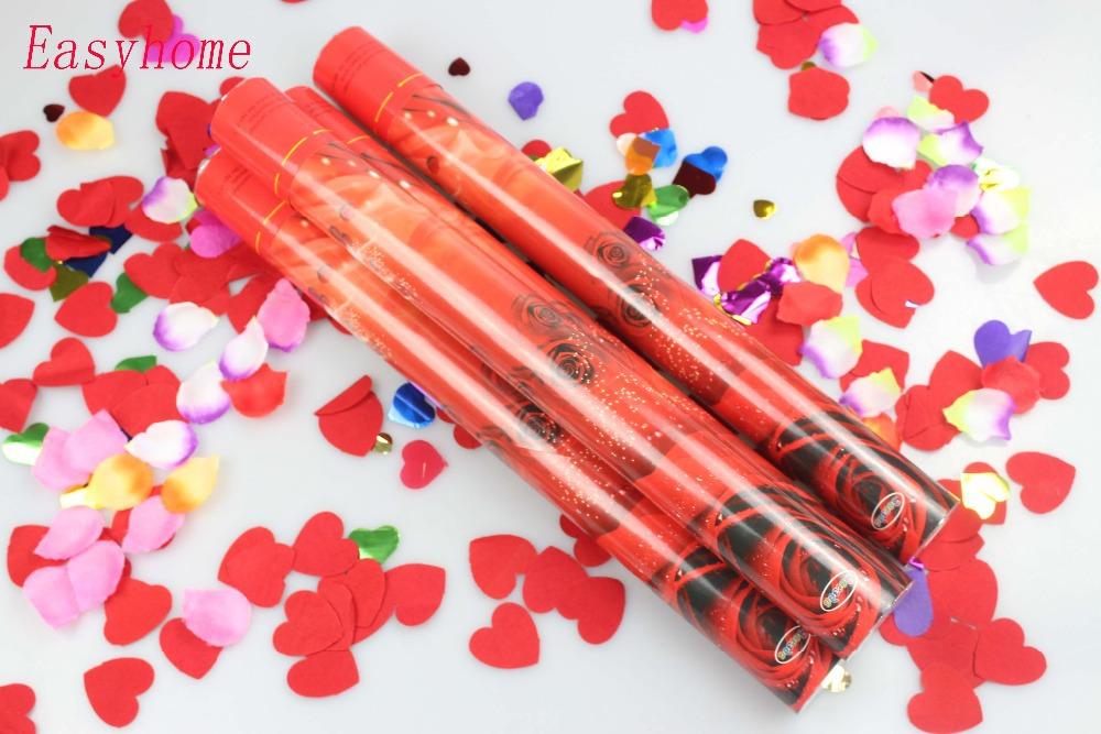 Free shipping 12pcs/lot Rose party popper, confetti popper,Wedding popper usage.Lovers unburden love confetti popper supplier(China (Mainland))