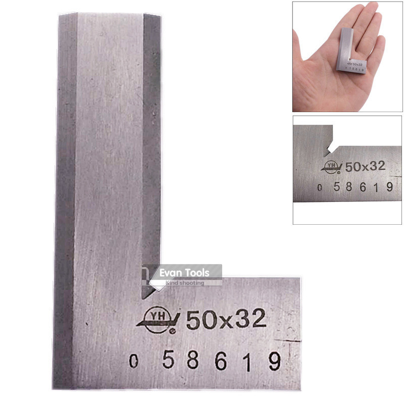 1 pc stainless steel 50*32mm Blade 90 degree angle square ruler 0 grade angle gauge&amp;measurement square ruler <br><br>Aliexpress