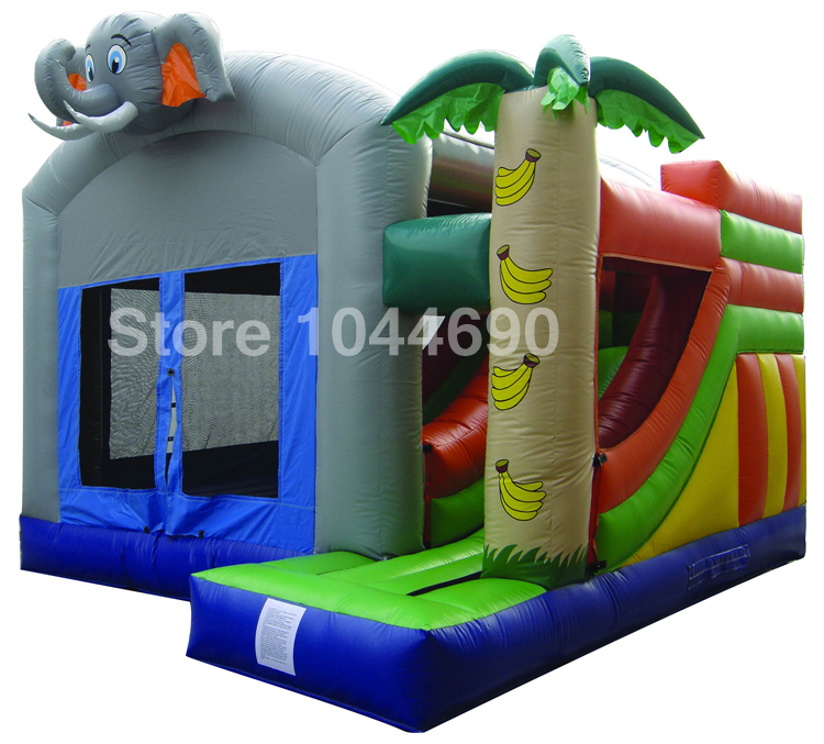 Free shipping inflatable bouncer slide,inflatable bouncer air blower(China (Mainland))