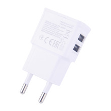 Dual  EU 5V 2A plug USB Wall Charger Adapter Phone For iPhone 4 5 6 For Samsung Galaxy S3 S4 Note 3 Note 4 N9000(China (Mainland))