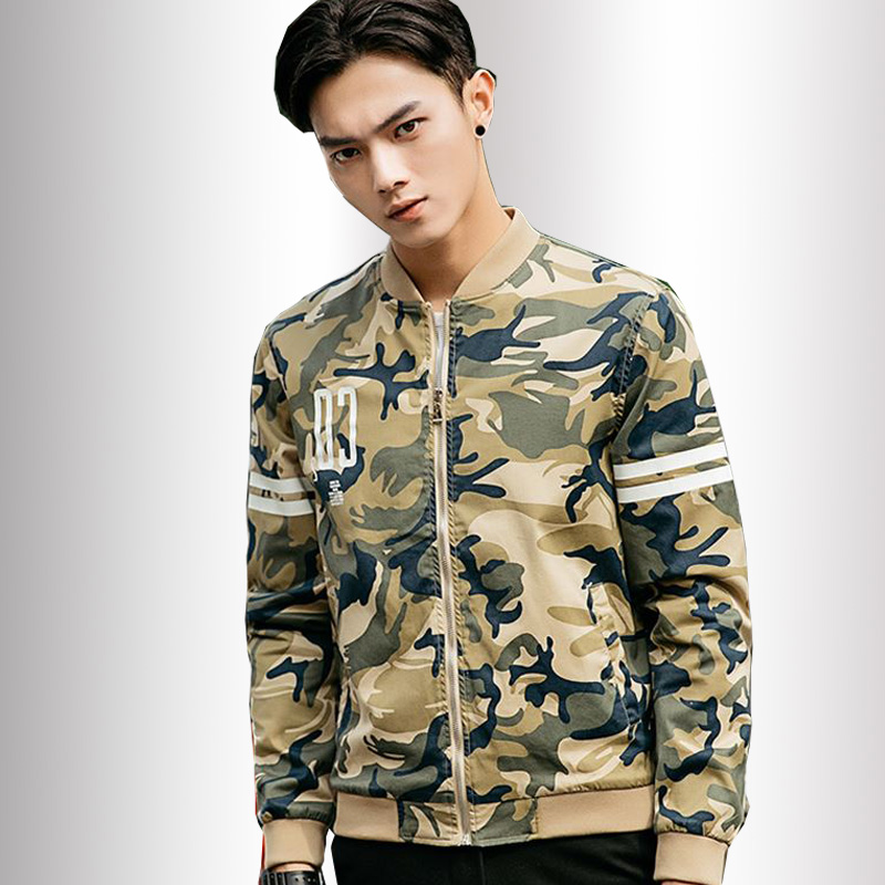New Casual Spliced cotton Mens Clothing Army Jacket male Camouflage Jackets Coats Military Camo Jacket Young men M-3XL(China (Mainland))