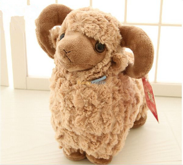Fancytrader 24'' / 60cm Super Soft Lovely Stuffed Giant Plush Goat Sheep, 3 Colors Available, Free Shipping FT50463(China (Mainland))