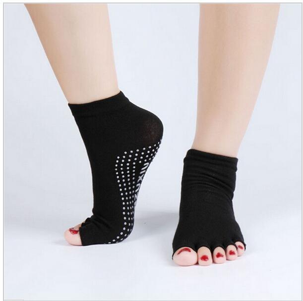 Men and Women Professional Yoga Socks Five Fingers Antiskid Backless ...