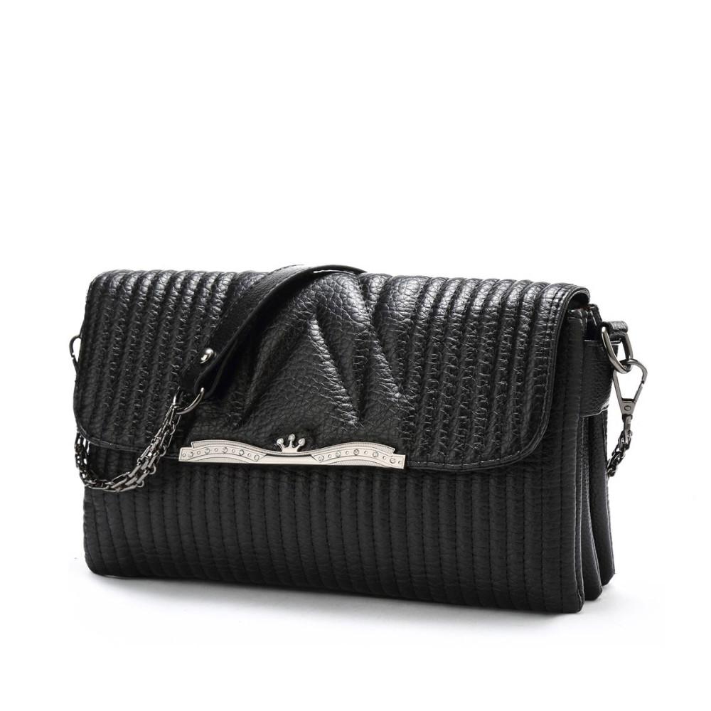 Black Stripe Small Bag Women Stylish Casual Mini Chain Flap  Bag Fashion Simple Layered Shoulder Bag Designer PU Crossbody Bag