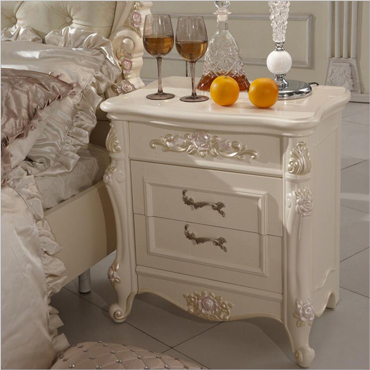 high quality bed Fashion European French Carved bed nightstands 10307(China (Mainland))