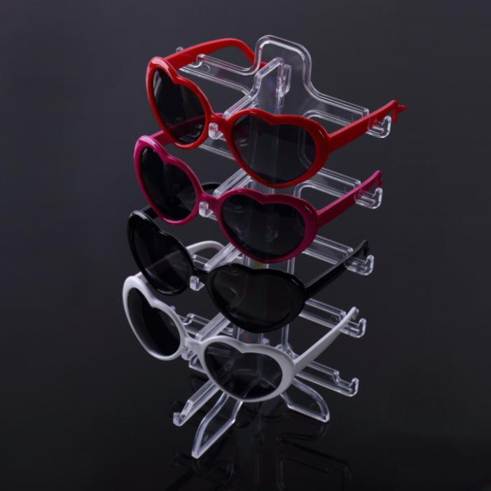 1pcs Show Stand Holder 5 layers SunGlasses Glasses Plastic Frame Display Hot Selling(China (Mainland))
