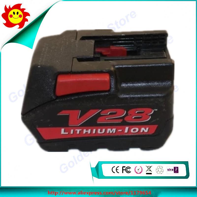 Used Original Power Tool Battery For Milwaukee V28 2.5Ah 28V 48-11-2830(China (Mainland))