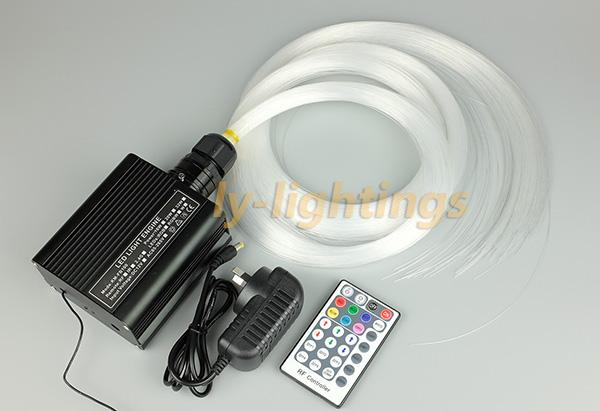 fiber optic light kit mini optical fiber celing light RGB+W LED multi-mode 16W led light box+ 0.75mmx2.5mx250pcs fibre<br><br>Aliexpress