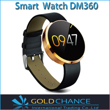 2015 New Arrive DM360 Smart Watch Heartrate Monitor IPS Screen With Heart Rate Fitness Tracker IOS and Android All Compatible