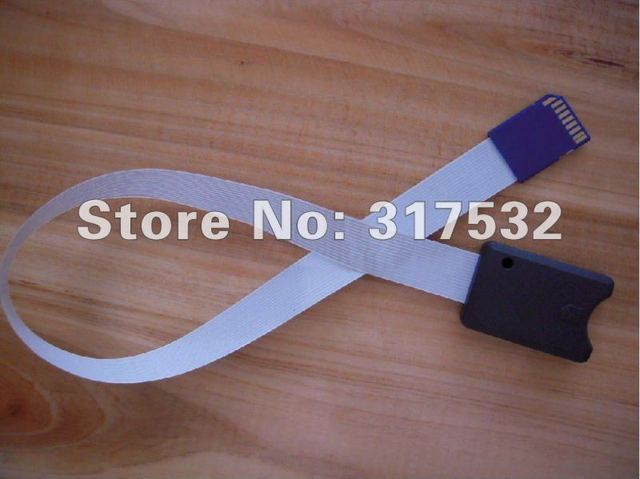 SD card extension cable 48cm for car GPS and DVD support 32GB MOQ 1pc Free shipping