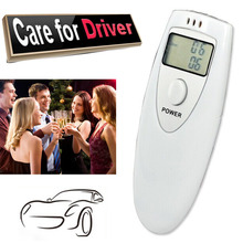 Safe Driving Alcohol Breath Tester White Analyzer Pocket Digital Alcohol Breathalyzer Detector Test Testing With  LCD Displayer