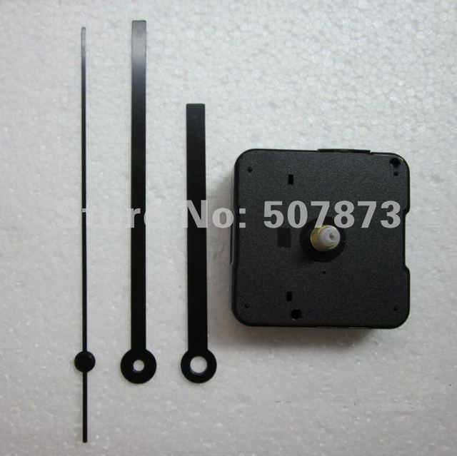 FREE SHIPPING 5PCS/lot Quartz Clock Movement Kit Spindle Mechanism shaft 12mm with hands Wholesale and Retail BJ008-1