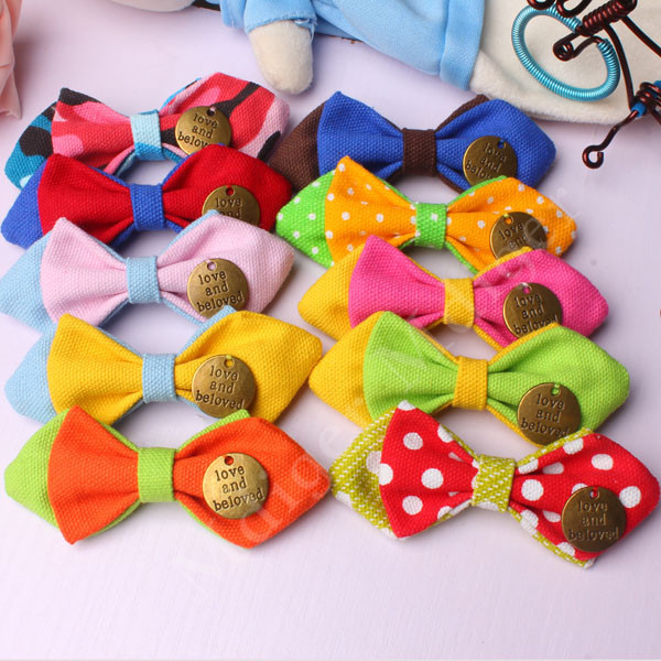 2016 Children Cotton Trendy Korean Hot Color Vintage Metal Bow Tie Mixed Colors Style Baby Neckties Safety Pin Collar Bowties(China (Mainland))