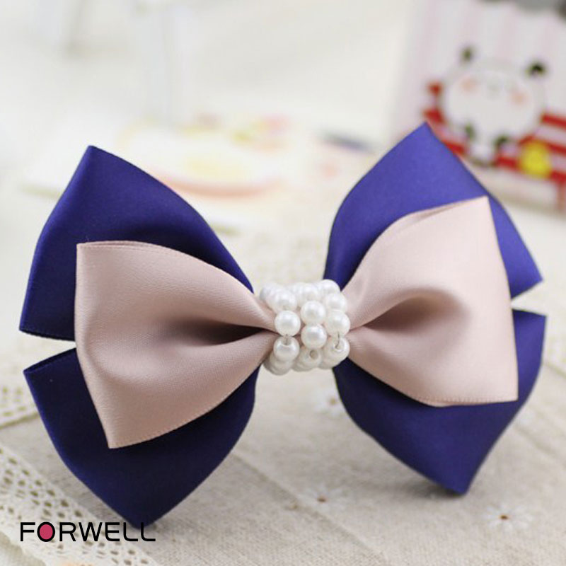 2016 new arrival hairpins hair accessories manual elegant beaded barrettes compound bowknot hair clips for women jewelry(China (Mainland))