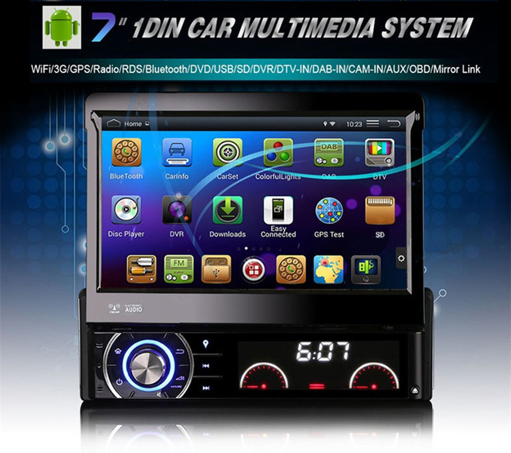 Quad Core Android Car DVD 1 DIN Car Video Player WIFI GPS Navi Handfree Call Car DVD Del Coche In-dash Android Car PC(China (Mainland))