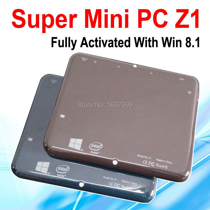 2015 New Super Mini PC Windows 8.1 Computer Z1 Atom Z3735F Quad Core 1.33GHz CPU 2GB RAM 32GB eMMC Storage Support Wifi HDMI(China (Mainland))