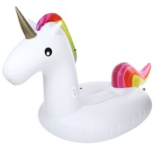 275cm Inflatable Giant Unicorn Air Mattresses Air Sofa Floating Rideable Swimming Pool Toy Float Raft for Beach Holiday Ring