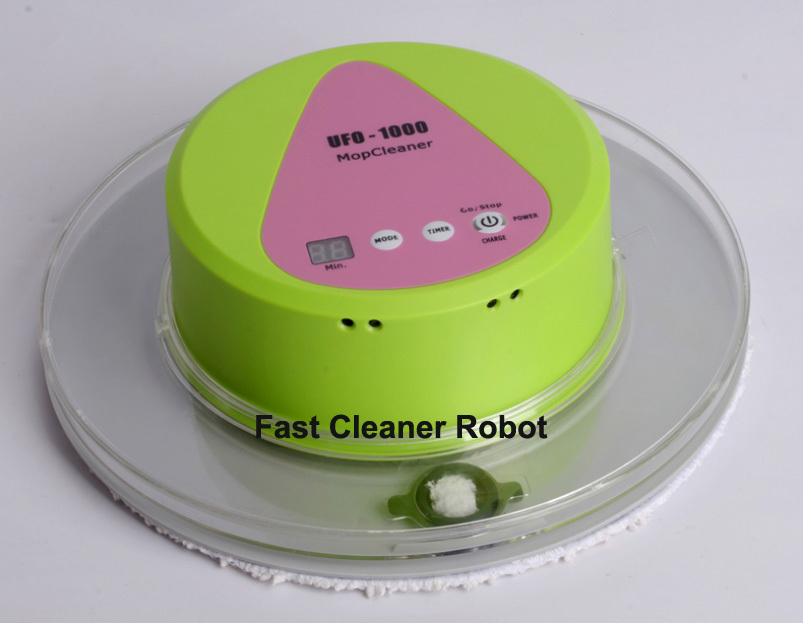 2016 Newest UFO design Automatic Floor Wet and Dry Mop Cleaner Robot With 247ml Big Water Tank(China (Mainland))