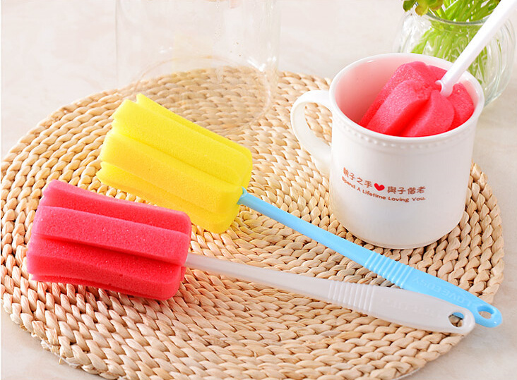 New Environmental Hemp Fiber Reinforced Non-stick Skillet Mug Brush Oil Degreasing Dishwashing Brush Cleaning Sponge Cup Brush(China (Mainland))