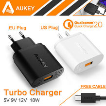 Buy AUKEY Qualcomm Quick Charge 2.0 18W CRDC USB Charger Smart Fast Mobile Phone Charger Samsung iPhone Xiaomi Wall Charger for $14.25 in AliExpress store