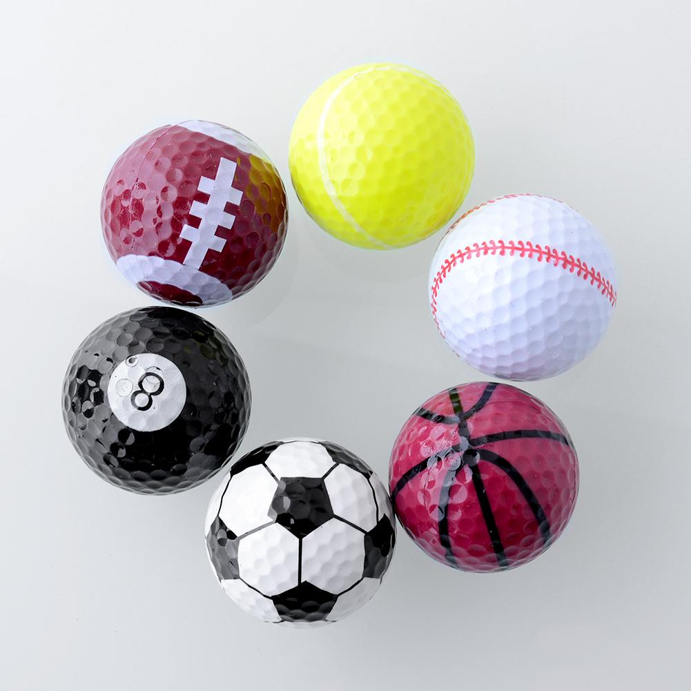 Set 6PCs Novelty Assorted Creative Champion Sports Golf Double Balls Joke Fathers Day Best Present Rubber Free Shipping(China (Mainland))