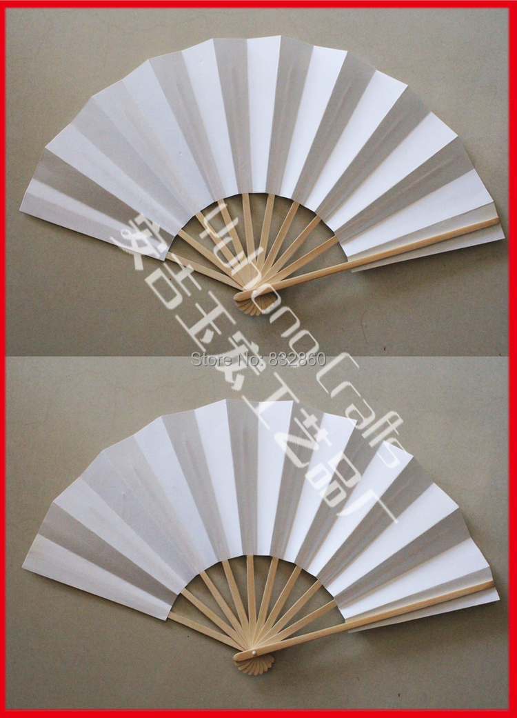 10pcs/Lot Janpanese Style Bamboo Chopsticks Folding Hand Fan Bamboo Bats White Paper Fans(China (Mainland))