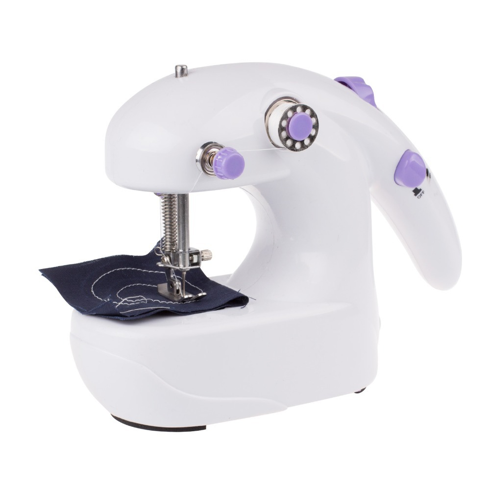 New Mini Electric Household Sewing Machine Hand Held Single Sewing Tool Without Battery(China (Mainland))