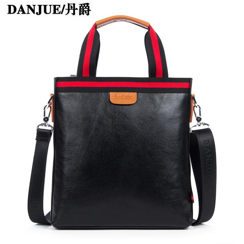 New arrive men genuine head layer cowhide leather fashion handbags men's casual shoulder messenger bag man business bag