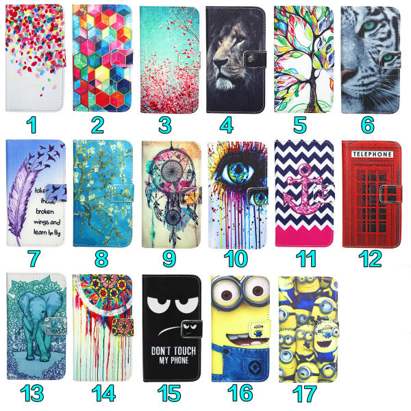 Wellmobile Beautiful Pattern Leather Flip Wallet Bag Case Cover For Samsung Galaxy S3 i9300 / S3 Neo i9301(China (Mainland))