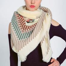 Winter Scarf 2016 Tartan Striped Scarf Women Desigual Plaid Scarf Cuadros New Designer Unisex Acrylic Basic Shawls Warm Bufandas(China (Mainland))